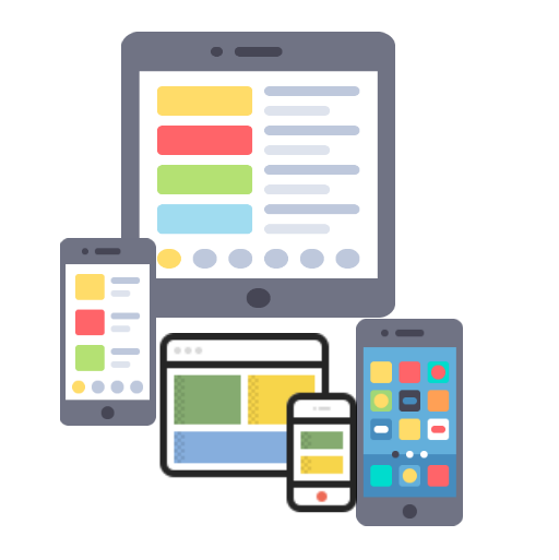 An image representing one of the services offered by Technotery as part of its Mobile Apps solutions which is Interactive Cross Platform and Hybrid Apps